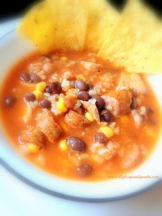 spicy mexican chicken & conecuh sausage chili #recipe #chili #spicy