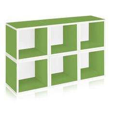 Way Basics zBoard Eco Stackable Storage Shelf Organizer, Green at Lowe's. The perfect, simple storage solution - the blue cube. Way Basics takes a cube and turns it into an eco-friendly storage option for your home or office. Cube Storage Shelves, Cube Bookcase, Storage Cubes, Modular Shelving, Modular Storage, Chandeliers, Cube Organizer, Nursery Storage, L Shaped Desk