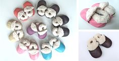 Real Leather, Faux Fur Lined Baby Booties - 7 Colors! | Jane