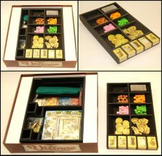 Making an insert and functional tray for Village | Village | BoardGameGeek