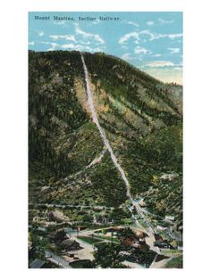 Another view of the Manitou Incline - 1 mile up; 2800 railroad ties; 2000 feet vertical gains; four mile hike back down (the easy way)