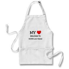 My heart belongs to NORTH LAS VEGAS Apron Bbq Apron, Chef Apron, Grill Apron, Apron Diy, Kombucha, Kiss The Cook Apron, Cool Vintage, Vintage Style, Funny Vintage