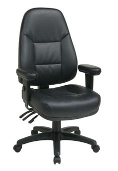 Office Star WorkSmart Professional Dual Function Ergonomic High Back Eco Leather Chair - http://www.furniturendecor.com/office-star-worksmart-professional-dual-function-ergonomic-high-back-eco-leather-chair-black/