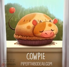 Daily Paint 1575. Cowpie by Cryptid-Creations.deviantart.com on @DeviantArt