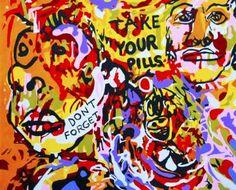 "Saatchi Art Artist Pawel Myszka; Painting, ""Take your pills"" #art"