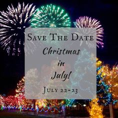 Santa's comin' to town...in July! SAVE THE DATE for our Christmas in July Sale July 22-23! Save 25% off your purchase storewide! #cmlook #news