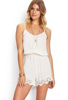 Mysterious Muse Crochet Romper #SummerForever