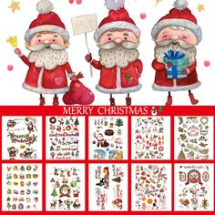 CARGEN 10 Sheets Children Temporary Tattoo Arm Hand Fake Tattoos Body Art Sticker Sets Santa Claus Socks Tree Graphic for Christmas Party Decorations -- Read more at the image link. (As an Amazon Associate I earn from qualifying purchases) Fake Tattoos, Temporary Tattoos, Body Art Tattoos, Christmas Party Decorations, Holiday Decor, Tree Graphic, Body Makeup, Tattoo Arm, Merry Christmas