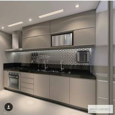 57 extraordinary kitchen design ideas for you that really like the beauty of - Modern Kitchen Modern Kitchen Interiors, Kitchen Decor, Interior Design Kitchen, Home Decor Kitchen, Contemporary Kitchen Design, Kitchen Room Design, Kitchen Modular, Modern Kitchen Cabinet Design, Kitchen Room