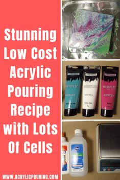 Low Cost Acrylic Pouring Recipe with Lots of Cells Discover some low-cost recipes in acrylic pouring on making cells. via some low-cost recipes in acrylic pouring on making cells. Pour Painting Techniques, Acrylic Pouring Techniques, Acrylic Pouring Art, Acrylic Art, Acrylic Glue, Flow Painting, Acrylic Painting Lessons, Diy Painting, Painting Tutorials