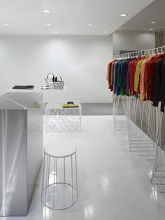 all white interior at 24 Issey Miyake Shop by Nendo