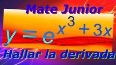 Como derivar funciones exponenciales que contiene de base el numero euler o constante de napier.