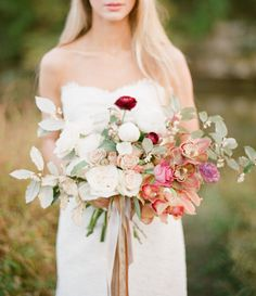 love the variety of flowers and greens 25 Best Wedding Bouquets for the Fine Art Bride