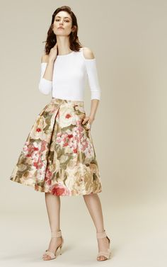 Karen Millen Floral jacquard full skirt
