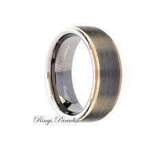Mens Tungsten Wedding Band Engagement Ring By RingsParadise