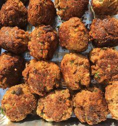 Trays of fried meatballs. ##arancini #riceballs #traditional AND #nonTraditional #homemade #handmade #freshtoOrder #madeWithLove #queens #statenisland #foodie #foodporn #goodeats #nom #italianfood #delicious #truffles #leahsitalianapples #sicilian #deepfried #goldenbrown #notyourNonnas #reinventingRiceballs #supportLocalBusiness #followyourdream #cheesy #eeeeeats #catering #foodilysm #fuckthatsDelicious
