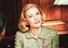 Cate Blanchett in Carol (2015) this movie is a master class in acting with the eyes
