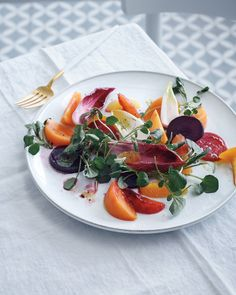 We thought fall salads couldn't compete with their summer counterparts until we tried this knockout recipe. It's a riot of flavor and color, thanks to the beets, grapefruits, oranges, tangerines, persimmons, endive, and watercress.
