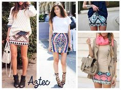 Moda femenina con estilo azteca