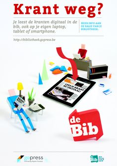 Affiche 'Gopress voor Bibliotheken' - Gopress kiosk