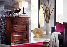CAMBRIDGE Komoda 100x45 cm, akácia Dresser As Nightstand, Cambridge, Modern, Table, Design, Furniture, Oxford, Home Decor, Medium