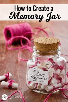 How to Create a Memory Jar  Love it?  Pin it to SAVE it! Follow Spend With Pennies on Pinterest for more great tips, ideas and recipes! Add your own great tips in the comments below! Keeping a Memory Jar is one of my New Years Resolutions this year!  This is not only great for yourself, it'sContinue Reading...