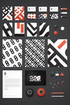 太いラインの模様やタイポグラフィーがインパクトのあるデザイン。(via Delicious Studio)