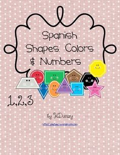 This is a very cute resource for learning the names of shapes, colors, and numbers in Spanish. It can be used in student binders as a reference and...