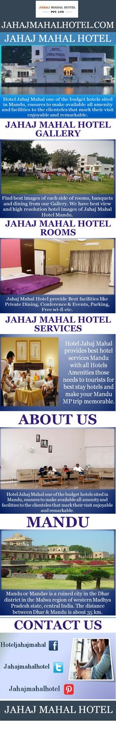 We are one of the best hotels In #Mandu. We offer luxury accommodation in #Mandu with degree of uniqueness and individuality that is unparalleled, and you can rest assured of consistently enjoying the standards of friendly and efficient service for which the Hotel has become renowned. Escape from the stress of daily routine and retreat to the peace and tranquility of #Hotel #Jahajmahal.  More visit: - http://www.jahajmahalhotel.com/