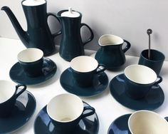 English Porcelain - *FULL CERAMIC SET OF POOLE COFFEE-WARE* *FLAWLESS CONDITION* for sale in Cape Town (ID:255908706) Cape Town, Conditioner, Porcelain, Pottery, English, Ceramics, Coffee, Tableware, Ceramica