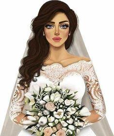 Wedding Images, Wedding Pictures, Wedding Cards, Eid Stickers, Wedding Stickers, All Fashion, Fashion Beauty, Yemen Women, Wedding Couple Cartoon