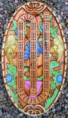 The Tiger Cribbage Board. Two Player Games, Cribbage Board, Cnc, Woodworking Toys, Just A Game, Wood Creations, Wood Carving, Vintage Toys, Wood Art