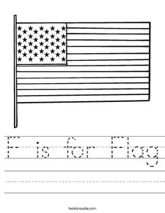 (Lentil) F is for Flag Worksheet - Twisty Noodle