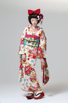 #KIMONO Furisode fall 2013 collection, by designers Furifu, Japan.