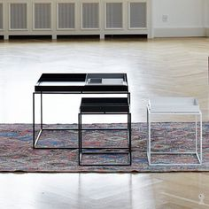 The Tray Coffee Table was designed and produced by the Danish design furniture label HAY. With the Tray Table Collection HAY brought out a table series that ca Large Coffee Tables, Coffee Table Tray, Low Tables, Small Tables, Hay Tray Table, Hay Design, White Tray, Blank Canvas, Living Room
