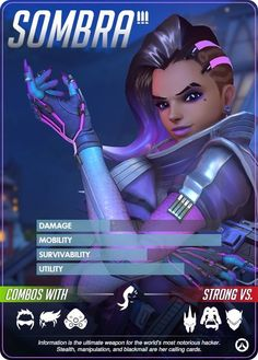 Overwatch Hero Cards: Sombra