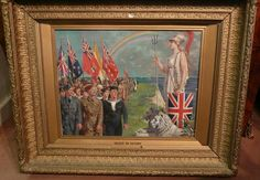 FORTUNINO MATANIA Salute to Victory Major World War Two British Oil Painting!