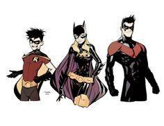 Robin, Batgirl, Nightwing