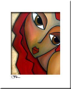 Abstract painting Modern pop Art print Contemporary colorful portrait face decor by Fidostudio Modern Pop Art, Contemporary Art, Abstract Face Art, Chicago Artists, Art Moderne, Large Painting, Art Portfolio, Art Prints, Canvas Art