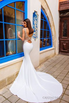 crystal design bridal 2016 sleeveless bateau neckline lightly embellished elegant chic modern sheath wedding dress low back chapel train (july) bv