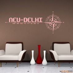 "Wandtattoo ""Stadt Neu Delhi"" - 19,95€"