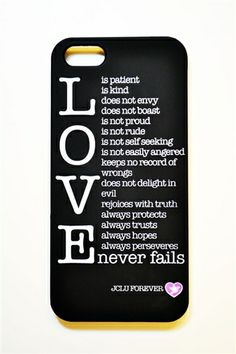 Love Never Fails is scripture 1 Corinthians 13:4-8 .A powerful and inspiring message describing true love from the Bible. Limited Qty's