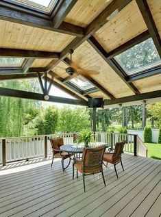 Building a deck on a flat roofBuilding a deck on a flat roofTop 40 Best Deck Roof Ideas - Covered Backyard DesignsHome ideas deck roofStrong Alumawood Patio Cover The roof of the platform is a Patio Roof, Pergola Patio, Back Patio, Backyard Patio, Modern Pergola, Cheap Pergola, Small Patio, Metal Pergola, Pergola With Roof