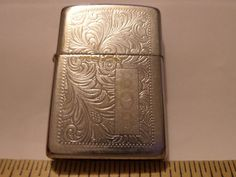 VINTAGE ZIPPO LIGHTER F XII ENGRAVED BOB REPAIR