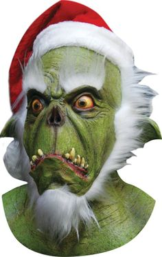 Grinch Mask Adult Santa Latex Halloween Christmas Costume Party TA-499 $56.99