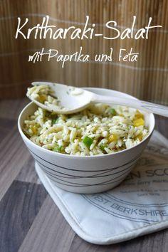 Experimente aus meiner Küche: Kritharaki-Salat mit Paprika und Feta