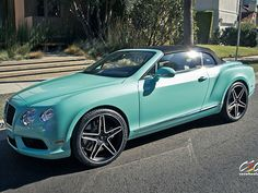 "2013 Bentley Continental GTC V8 ""Tiffany Blue"" Beverly Hills edition @Amy Lyons Skow-Mccurry @Klo Alvadoé Petersen"