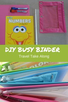 DIY Busy binder keeps kids busy on long car rides, or at home. So full of fun and educational stuff it makes entertaining toddlers a breeze in restaurants.