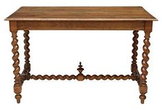 19th-C.  French Carved Walnut   Console