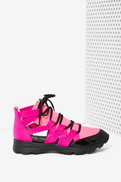 Jeffrey Campbell Vedda Neoprene Trainer | Shop Sneakers at Nasty Gal